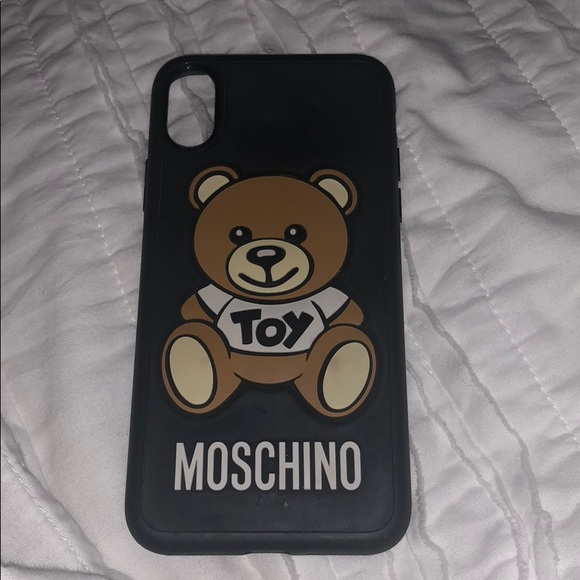 detailed pictures 05346 f2853 Moschino Bear iPhone X case
